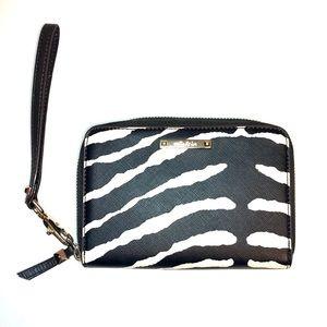 Stella & Dot Zebra Print Chelsea Tech Wallet